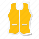 cloth, clothing, dress, fashion, man, vest, woman icon