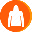cloth, clothing, fashion, hoodie, jacket, man, winter icon
