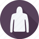 bag, clothes, clothing, dress, fashion, hoodie, woman icon