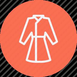 bathrobe, clothes, coat, housecoat, nightgown, overcoat, trench icon