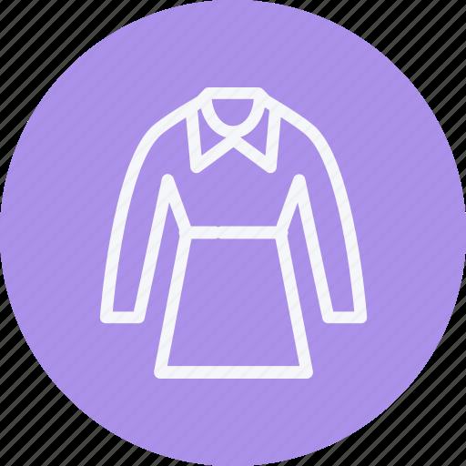 dress, fashion, long, sleeves, style, wear, women icon