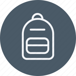 bag, camping, hiking, shoulder, travel icon