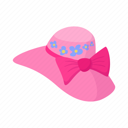 background, cartoon, elegant, female, hat, retro, woman icon