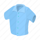 background, cartoon, male, men, shirt, short, sleeved icon