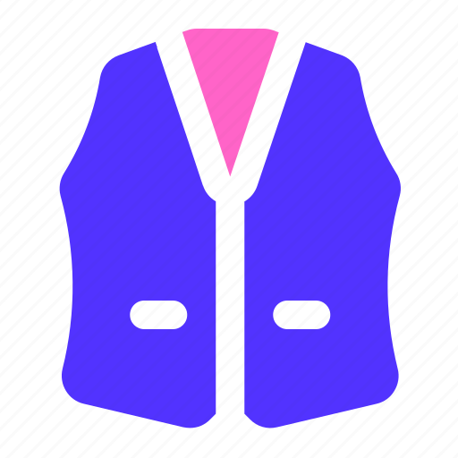 apparel, clothing, outfit, vest icon