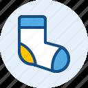 men, shoes, socks, wardrobe icon