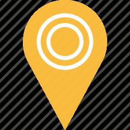 double, google, line, locate, location, pin icon