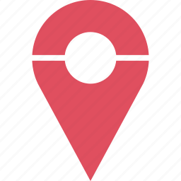 custom, google, line, locate, location, pin icon