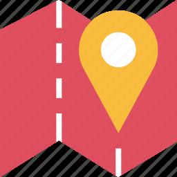 folder, google, locate, location, map, pin icon
