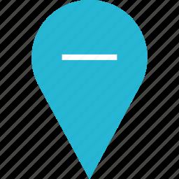 google, locate, location, negative icon