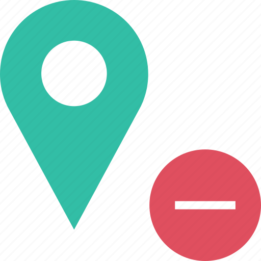 google, locate, location, negative, pin icon