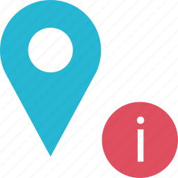 google, i, locate, location, pin icon