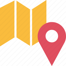 google, locate, location, map, pin icon