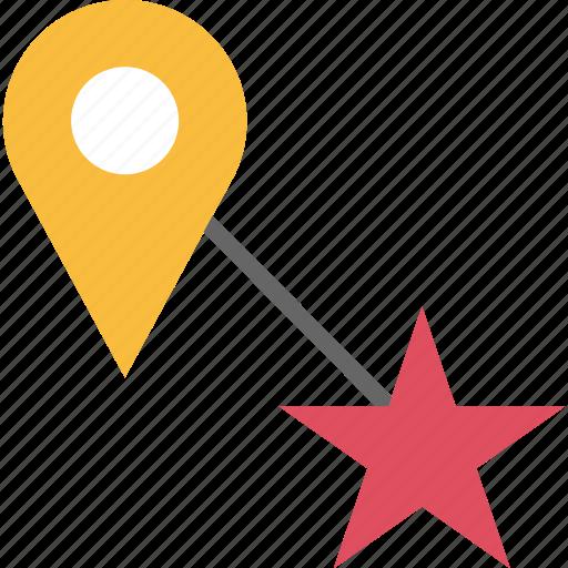 google, locate, location, pin, star icon