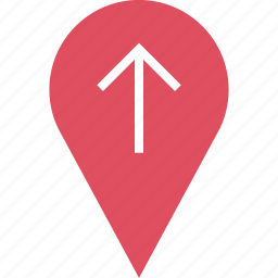 google, locate, location, pin, up icon