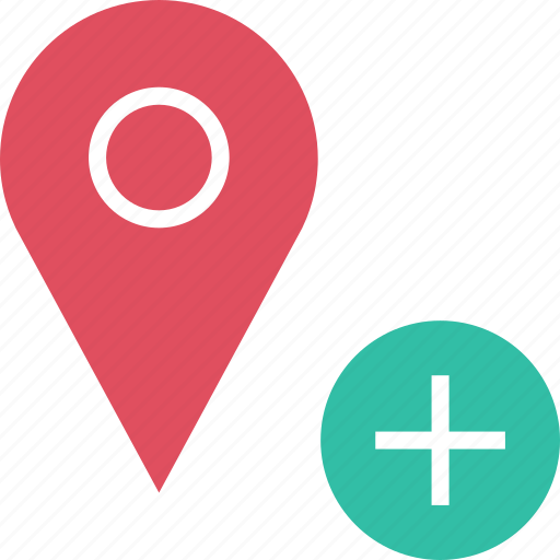 Add, google, locate, location, plus icon - Download on Iconfinder