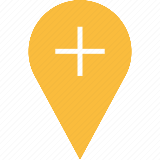 google, locate, location, plus icon