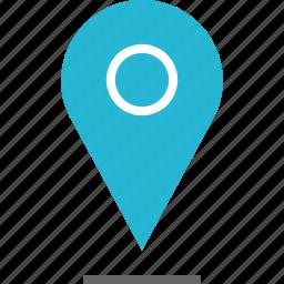 google, locate, location, pin, shadow icon