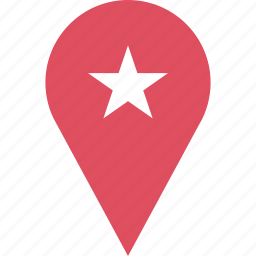 google, locate, location, pin, star icon