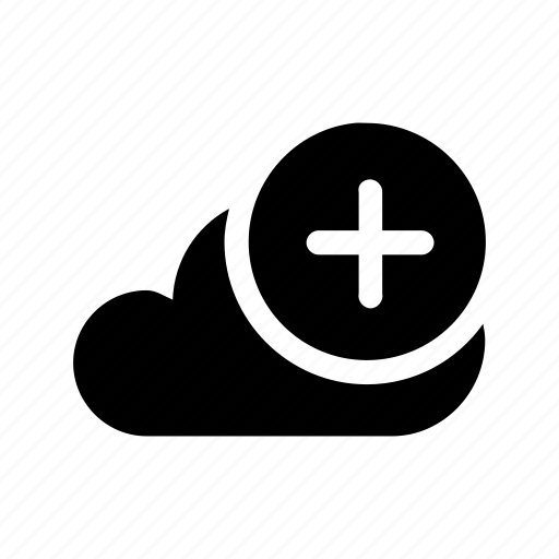 add, big, cloud, data, database, online, storage icon
