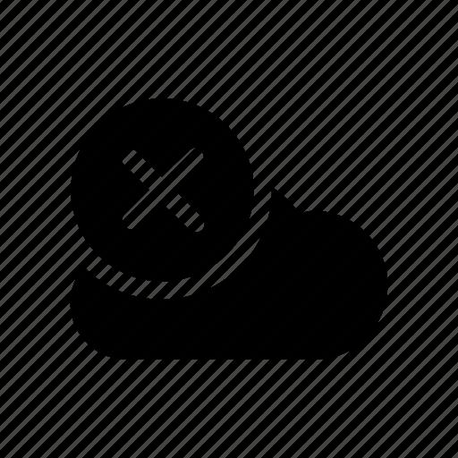 big, cloud, data, database, online, remove, storage icon