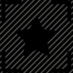 focus, star, wechat icon