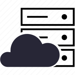 cloud, virtual host icon