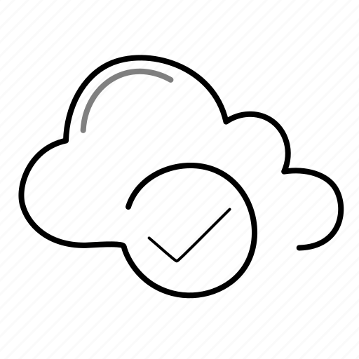 check, cloud, ok icon
