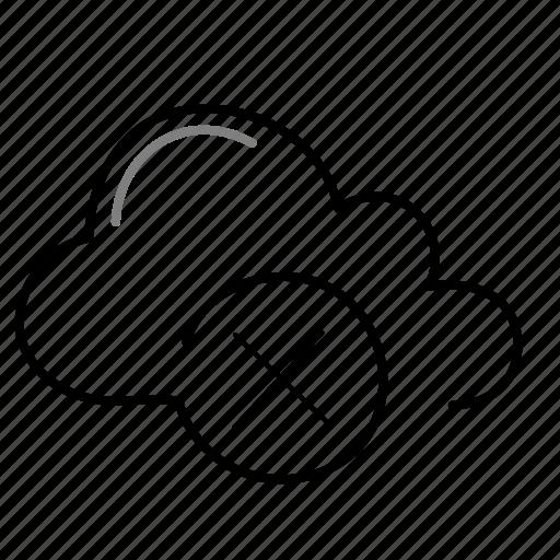 cancel, close, cloud icon
