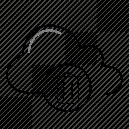 cloud, delete, erase, remove icon
