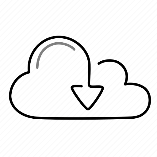 arrow, cloud, data, download icon