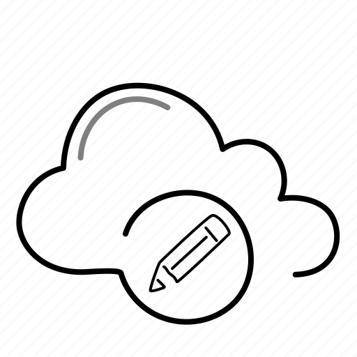 cloud, edit, pen, pencil, write icon