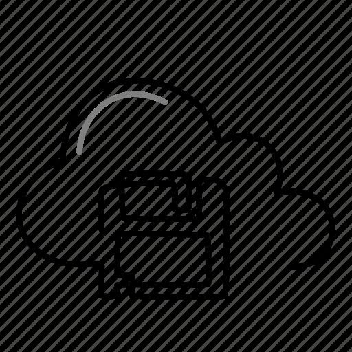 cloud, guardar, save icon
