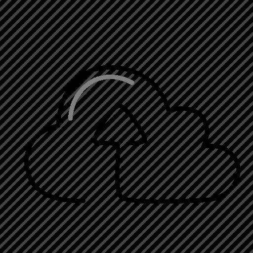 arrow, cloud, data, upload icon