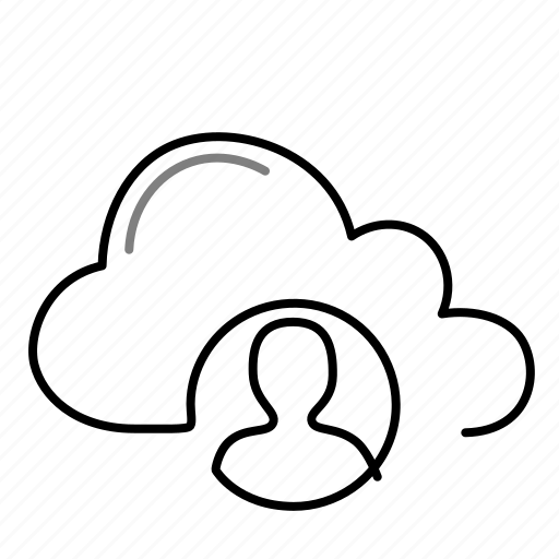 account, avatar, cloud, user icon