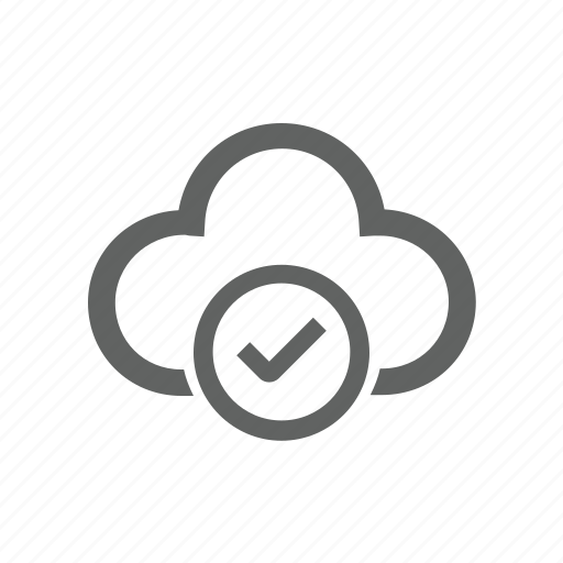 check, check mark, cloud, correct, updated icon