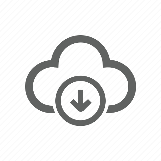 Arrow, cloud, down, download icon - Download on Iconfinder
