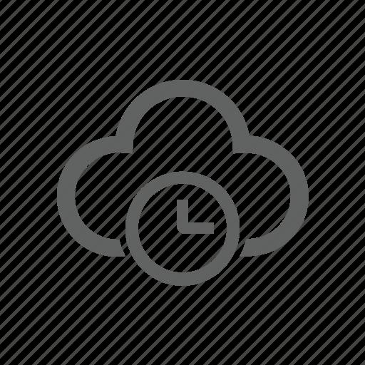 clock, cloud, delay, later icon