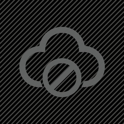 block, cloud, error, warning icon