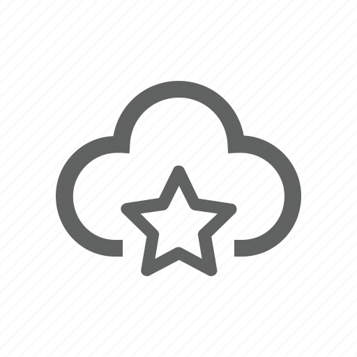 cloud, favorite, important, star icon