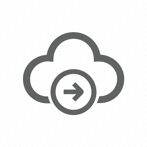 arrow, cloud, forward, in, log in, right icon