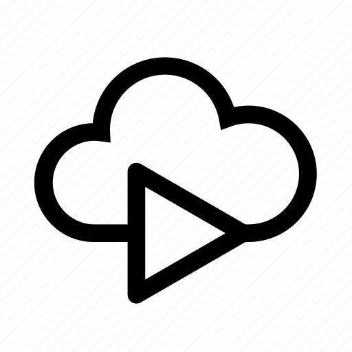 cloud, computer, music, playlist, storage icon