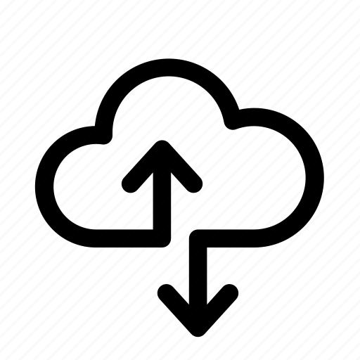 cloud, computer, data, download, exchange, upload icon