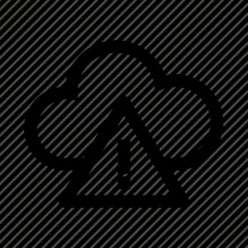 alert, cloud, computer, failure, warning icon