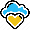 cloud, favorite, health, heart, like, love, storage