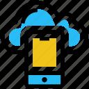 cloud, cloud app, drive, mobile, server, smartphone, storage