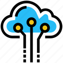 cloud, cloud storage, computing, data, server, storage, technology icon