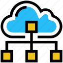 cloud, cloud network, icloud, network, server, sharing, storage icon