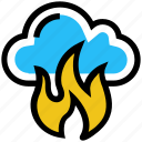 cloud, danger, disaster, fire, flame, hot, storage