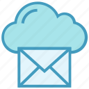 cloud, email, envelope, letter, mail, message, storage icon